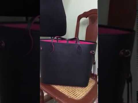 090beed29fee  LouisVuittonshoulderbags Louis Vuitton black hot pink totally pm epi leather  bag review