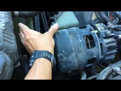 hmmwv (humvee) replace alternator 60amp