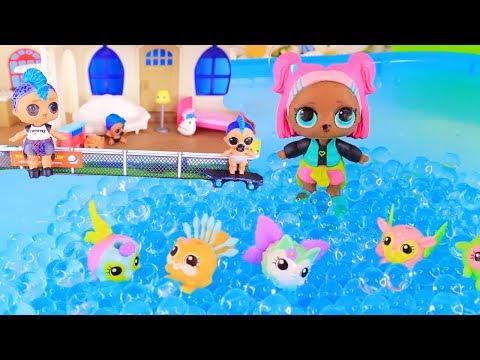 Куклы Лол в саду из Орбиз и игры для Мальчиков в мультике Lol Surprise Dolls Видео для детей