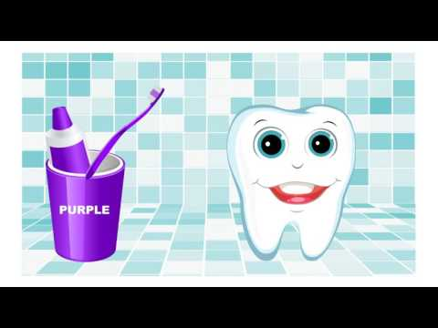 Thumbnail: Teeth brush video Learn colors in English for kids
