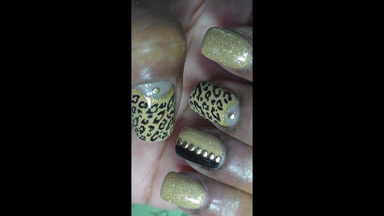 Classy Lady Neutral Nail Art - YouTube