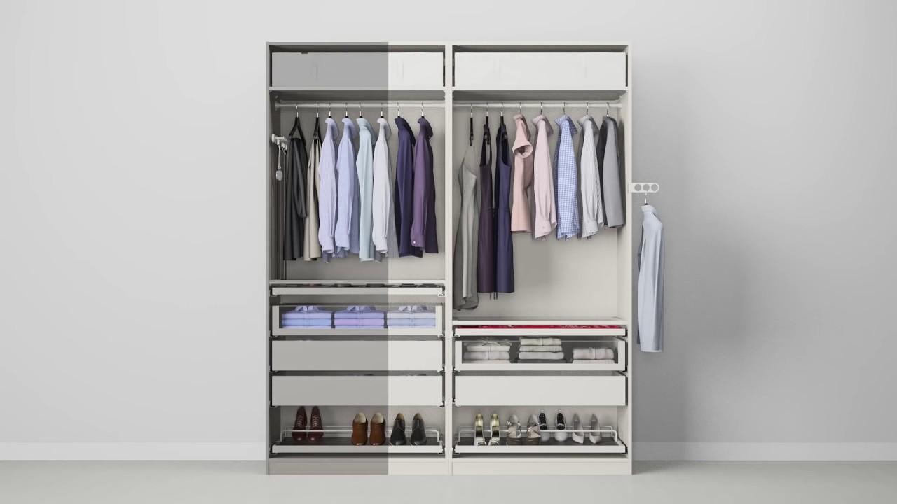 Ikea Schoenenkast Pax.Ikea Wardrobe Komplement Pax Wardrobe White Stained Oak Effect