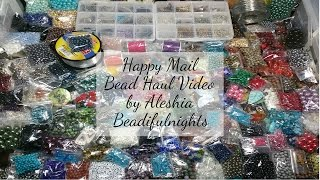 Happy Mail Bead Haul Video
