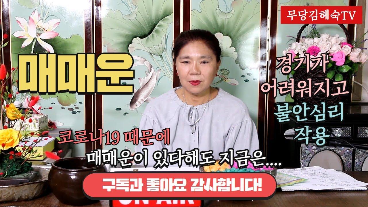 [무당 김혜숙 운세톡] 경기가 어려워지고 불안심리 작용 탓인지 매매운에 대해 많이 물어 보네요
