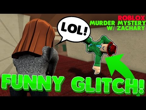 FUNNIEST GLITCH in MURDER MYSTERY 2 w/ Zachary! | ROBLOX