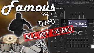 Famous Vol. 1 for Roland TD-50 - Custom kits - Travis Barker, Neil Peart, Gavin Harrison + more!