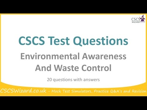 CSCS Test Questions - Environmental Awareness And Waste Control - Operatives