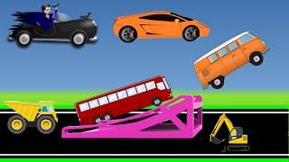 MONSTER TRUCK FOR CHILDREN - Trucks Backflip Stunts, Street Vehicles For Kids, Backhoe Kids Video