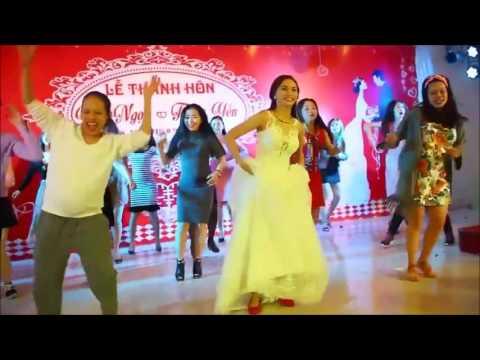 Cô dâu Xứ Nghệ nhảy Zumba trong đám cưới