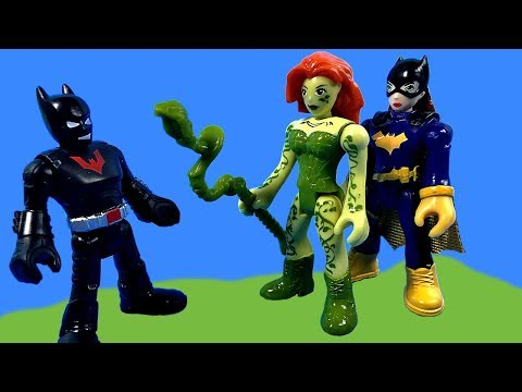 Imaginext Batman Beyond and Batgirl Breakup at Poison Ivy and Nightwing