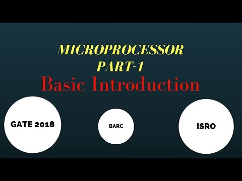 basic introduction of 8085 MICROPROCESSOR PART-1 for gate and psu