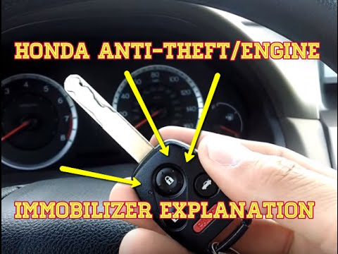 honda anti theftengine immobilizer explanation diy learning tutorial youtube
