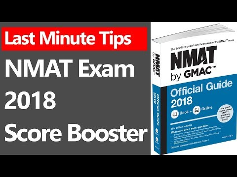 12 Last Minute Tips For NMAT Exam 2018 Score Booster