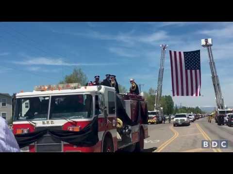 Scenes from Deputy Mason Moore's funeral