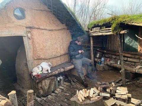 Natural Clay Cabin 2 Nights Winter Camping
