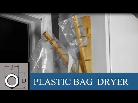 Homemade Plastic Bag Dryer