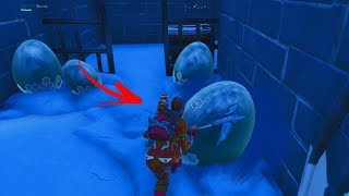 How to see DRAGON EGGS using this FLAW in the playground Fortnite! (Secret Room)