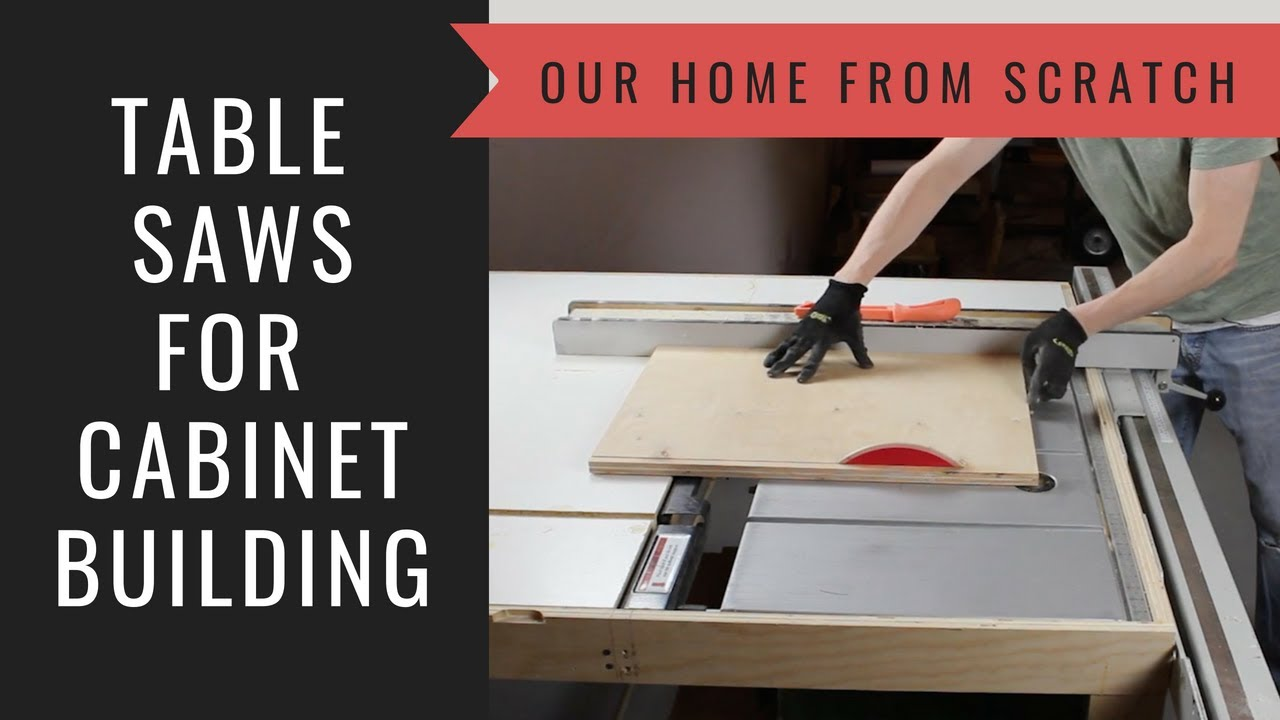 how to build a cabinet: lesson 1 table saws