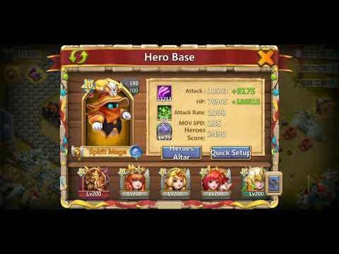 Castle Clash 8/8 Regenerate Sas With 6/7 Sacred Light And 8/8 Sacred Light Walla