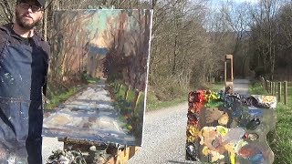 Kyle Buckland Plein Air Oil Painting Demonstration demo Beginner Art Lesson #4