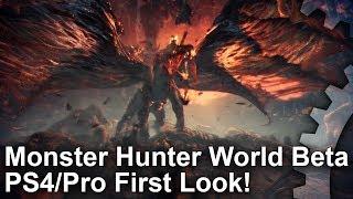 Monster Hunter World Beta PS4 vs PS4 Pro First Look