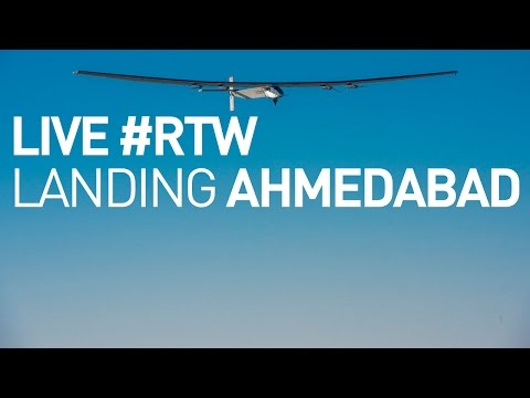 LIVE: Solar Impulse Airplane - Landing in Ahmedabad - First Round-The-World Solar Flight