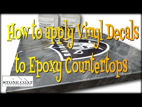 How to apply Vinyl Decals to Epoxy Countertops