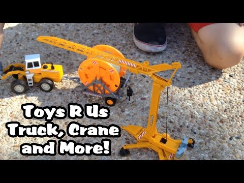 Toys R Us DUMP TRUCK, Construction FUN And A FIRE TANKER UNIT!