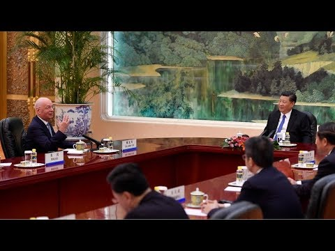President Xi meets with WEF executive chairman