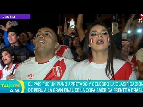 Hinchas celebraron con todo clasificación de Perú a la final de la Copa América - Mujeres al mando