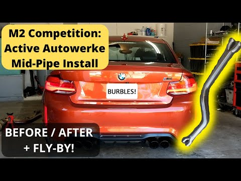 Active Autowerke M2 Competition Mid-Pipe: Install, + Before/After