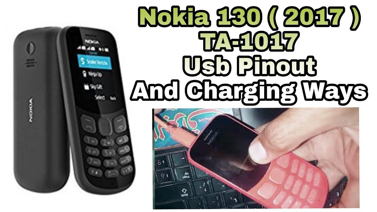 Nokia 130 2017 TA-1017 USB Pinout And Charging Ways - YouTube