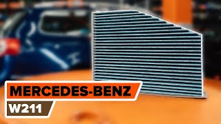 Kaip pakeisti salono filtras MERCEDES-BENZ W211 E Klasė [AUTODOC PAMOKA]