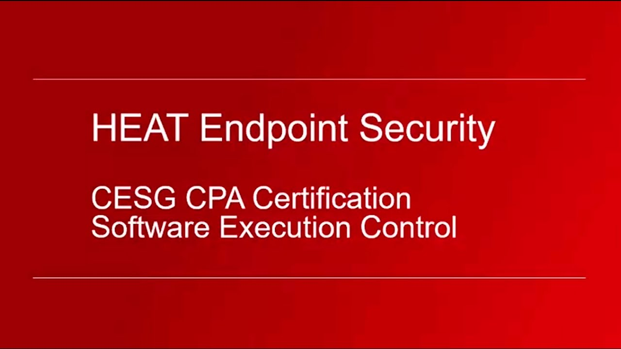 Heat Software Cesg Cpa Certification Youtube