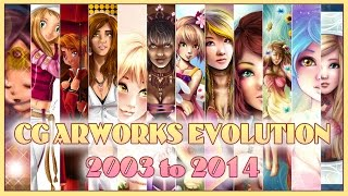 CG Artworks Evolution from 2003 to 2014