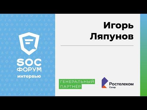 Игорь Ляпунов (Ростелеком-Солар): «Обеспечение безопасности —это наведение порядка» | BIS TV