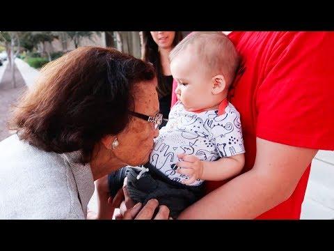 BABY MEETS GREAT GRANDMA BELA!!