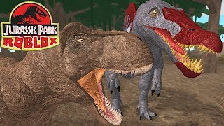 Jurassic Park (Roblox) - T-Rex Vs Spinosaurus, Sobrevivência Insana! | Dinossauros