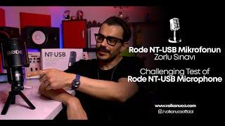 Rode NT-USB Mikrofonun Zorlu Sınavı / Challenging Test Of Rode NT-USB Microphone
