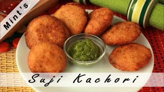 Suji Ki Kachori Recipe in Hindi-Indian Vegetarian Snacks & Appetizer Recipe-Semolina Kachori-Ep-73