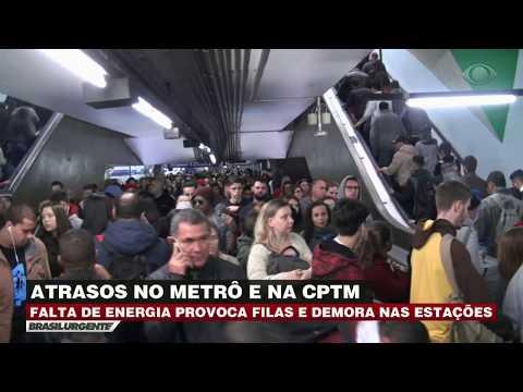 SP: Falta de energia provoca tumulto no Metrô e CPTM