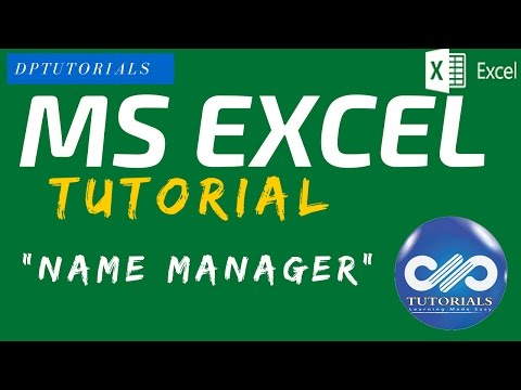 """How to Name a Cell and Range of Cells in EXCEL using """"Name Manager"""""""