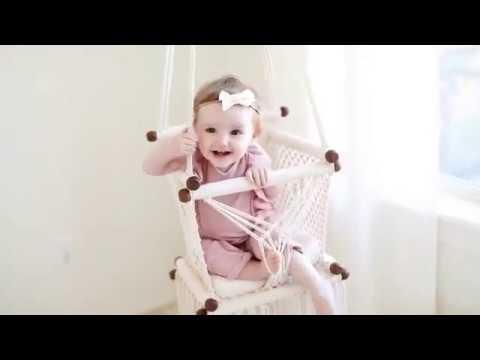 Enclosed Baby Swing Chair Handmade In Macrame Youtube