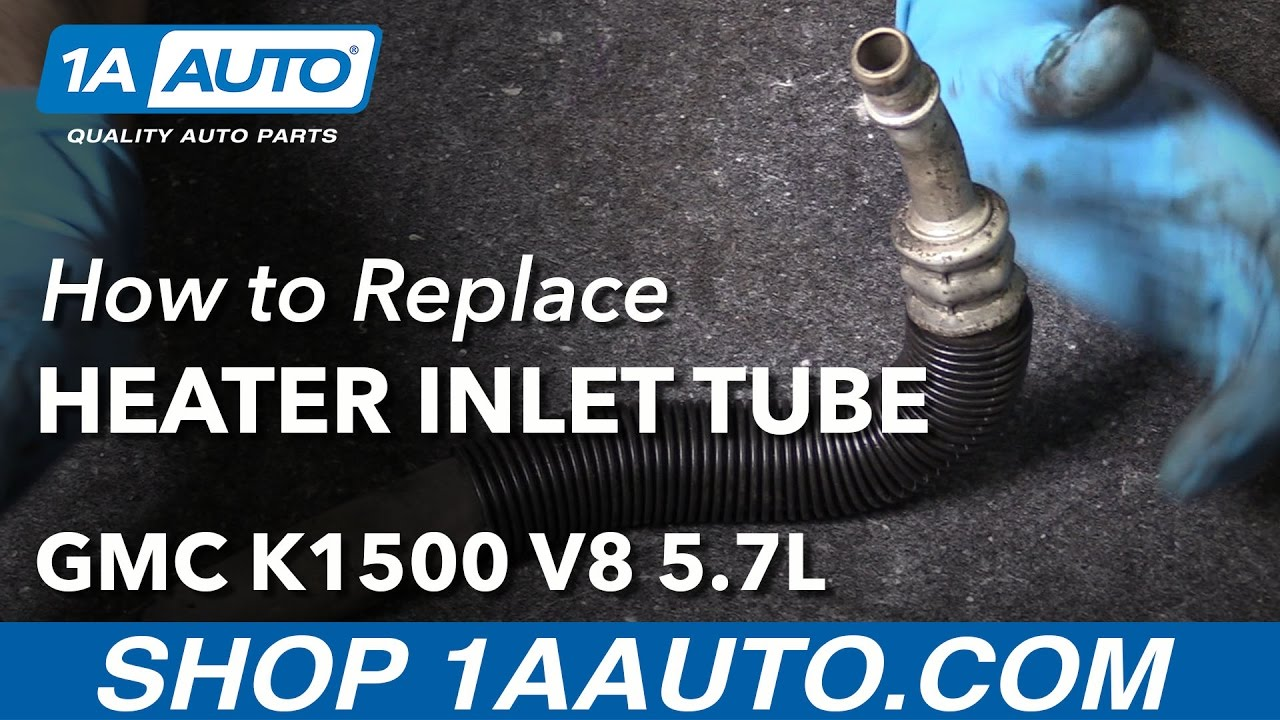 how to replace heater hose inlet tube 96 99 gmc k1500 [ 1280 x 720 Pixel ]