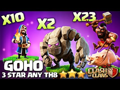 HOW TO 3 STAR ANY TOWN HALL 8 BASE! TH8 ATTACK STRATEGY GOHO! Clash of Clans coc
