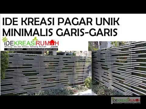 Desain Pagar Unik Murah Minimalis - YouTube