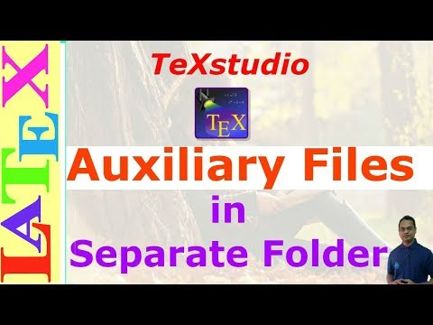 Separate folder for all auxiliary files in TeXstudio (LaTeX: Tips/Solution-28)