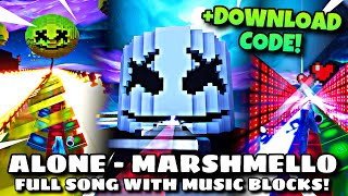 """Marshmello - Alone"" full song with Fortnite creative music blocks! (download code: 9887-5504-3095)"