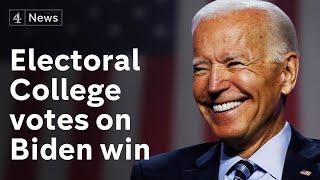 US election: Electoral College to confirm Joe Biden win