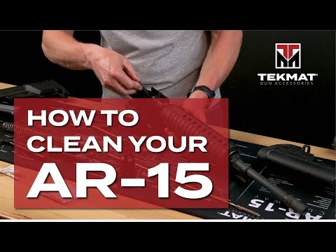 How to Clean an AR-15 | TekMat| Basic Gun Cleaning | Direct Impingement VS Gas Piston